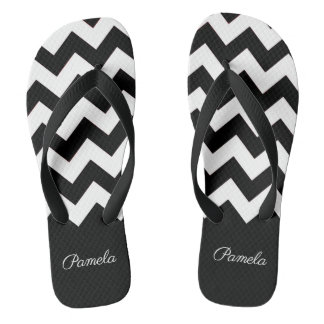Zig Zag and Solid Pattern Flip Flops