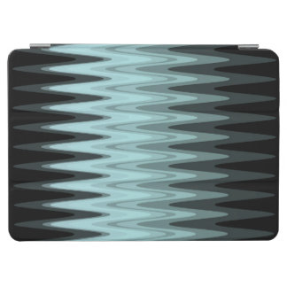 Zig Zag Black Teal Gray Pattern iPad Air Cover