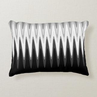 Zig Zag Black White Gray Pattern Accent Pillow