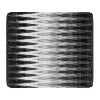 Zig Zag Black White Gray Pattern Boards