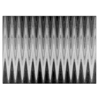 Zig Zag Black White Gray Pattern Cutting Board