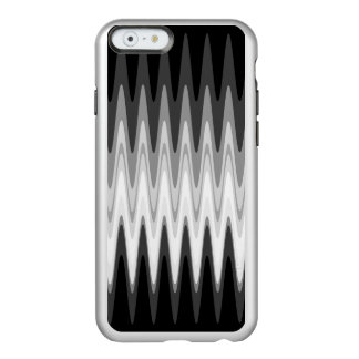 Zig Zag Black White Gray Pattern Incipio Feather® Shine iPhone 6 Case