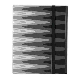 Zig Zag Black White Gray Pattern iPad Case