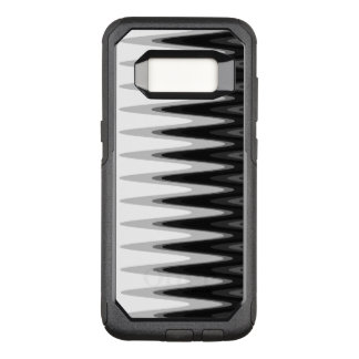 Zig Zag Black White Gray Pattern OtterBox Commuter Samsung Galaxy S8 Case