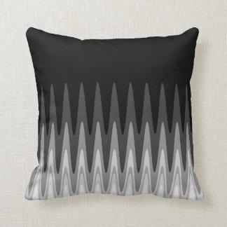Zig Zag Black White Gray Pattern Throw Pillow