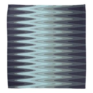 Zig Zag Blue Teal Gray Pattern Bandana