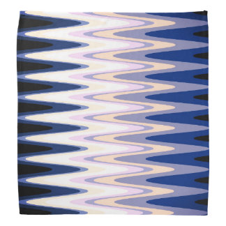 Zig Zag Blue White Gray Beige Purple Pink Pattern Bandana