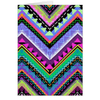 Zig Zag Colorful Pattern Print Design Card