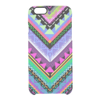 Zig Zag Colorful Pattern Print Design Clear iPhone 6/6S Case