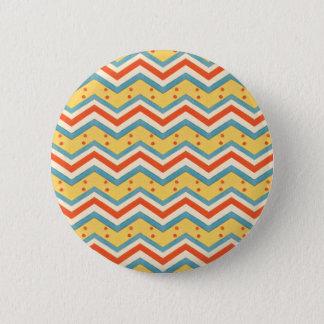Zig Zag Dots 2 Inch Round Button