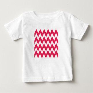 Zig zag elements  red white baby T-Shirt