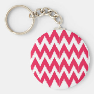Zig zag elements  red white keychain