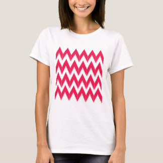 Zig zag elements  red white T-Shirt