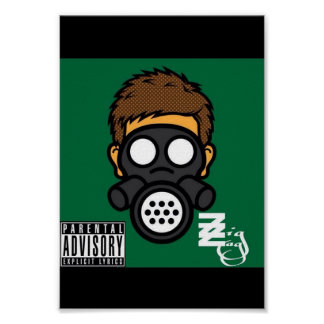 "Zig Zag ""Gas Mask"" Poster"