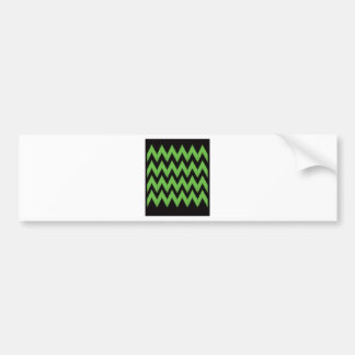 Zig zag green black inc bumper sticker