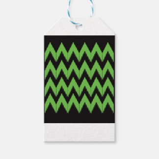 Zig zag green black inc gift tags