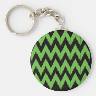 Zig zag green black inc keychain