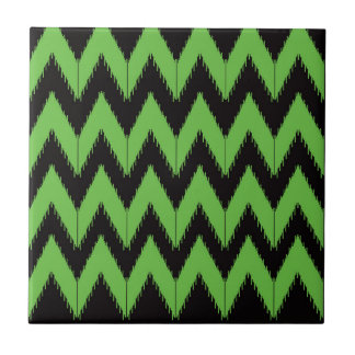 Zig zag green black inc tile
