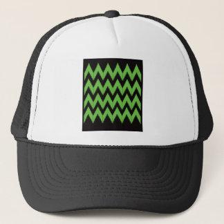 Zig zag green black inc trucker hat