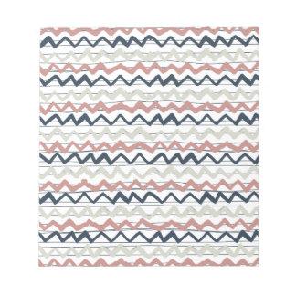 zig zag lines geometric pattern notepad