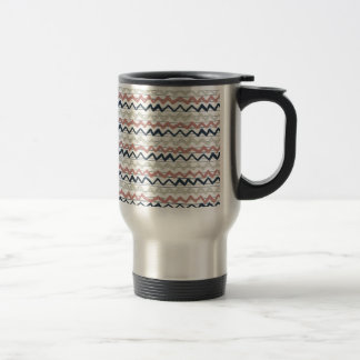 zig zag lines geometric pattern travel mug