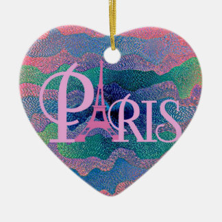 Zig Zag PARIS Ceramic Ornament
