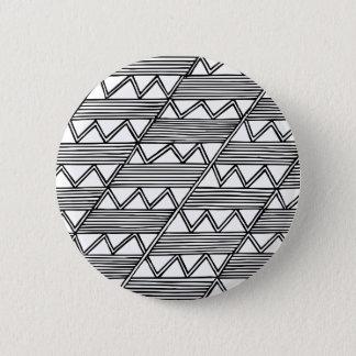 Zig Zag Pattern 2 Inch Round Button