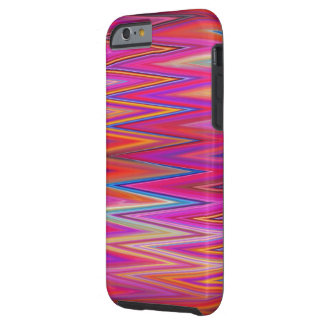 Zig Zag Pattern Abstract Design Colorful Chevron Tough iPhone 6 Case