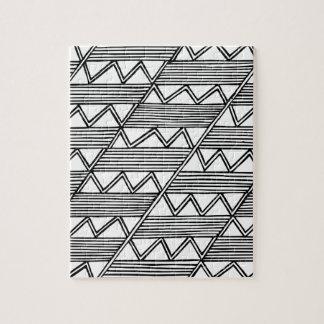 Zig Zag Pattern Jigsaw Puzzle