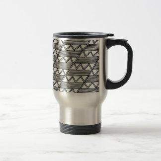Zig Zag Pattern Travel Mug