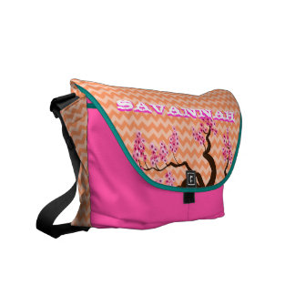Zig Zag Pattern You Choose Colors- Cherry Blossom Commuter Bag
