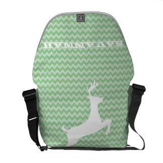 Zig Zag Pattern You Choose Colors- Cute Deer Commuter Bags