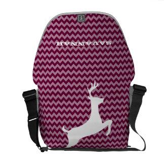 Zig Zag Pattern You Choose Colors- Cute Deer Courier Bag