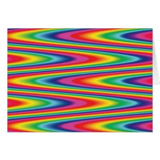 Zig Zag Psychedelic Rainbow Pattern Card
