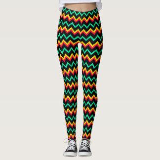 zig zag stitching pattern leggings