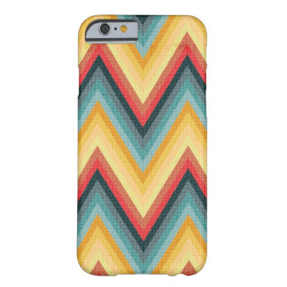 Zig Zag Striped Background 2 Barely There iPhone 6 Case