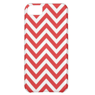Zig Zag Striped Red White Pattern Qpc Template Cover For iPhone 5C
