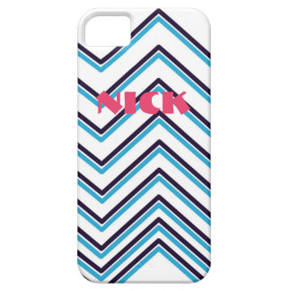 """Zig-Zag Stripes"" Contemporary Design Case For The iPhone 5"