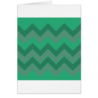 Zig zag vintage 50s stripes card