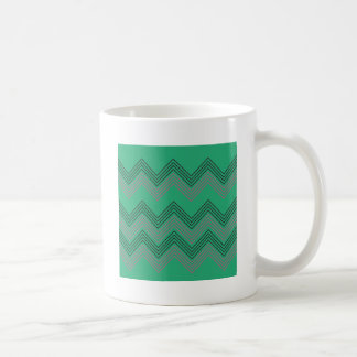 Zig zag vintage 50s stripes coffee mug
