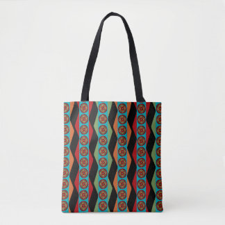 Zig Zags and Circles All-Over-Tote bag