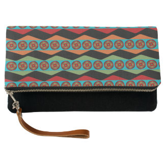 Zig Zags and Circles Clutch
