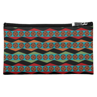 Zig Zags and Circles Cosmetic Bag