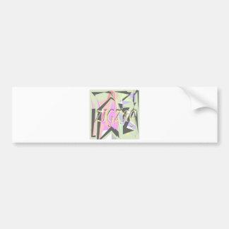 zigzag bumper sticker
