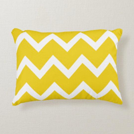 Zigzag Chevron Accent Pillow - Lemon Yellow