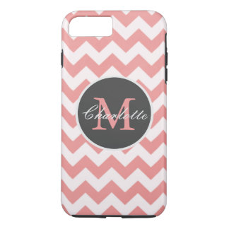 ZigZag Chevron Chic Monogrammed Pink Pattern iPhone 8 Plus/7 Plus Case
