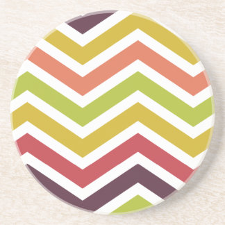 ZigZag Chevron Colorful Jelly Bean Drink Coaster