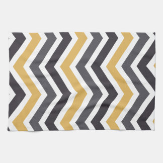 ZigZag Chevron Gold And Gray Kitchen Towel