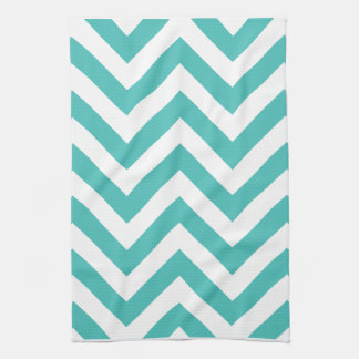 Zigzag Chevron Pattern in light blue Kitchen Towel