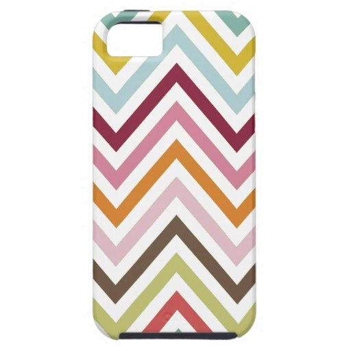 Zigzag (Chevron), Stripes, Lines - Green Blue Pink iPhone 5 Case
